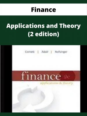Finance - Applications and Theory (2 edition)