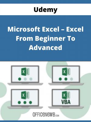 Udemy - Microsoft Excel - Excel From Beginner To Advanced